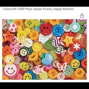 Happy Buttons 1000 pc jigsaw puzzle! New
